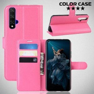 Чехол книжка для Huawei Nova 5T - Розовый