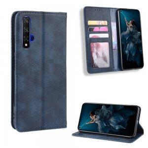 Чехол книжка для Huawei Nova 5T с магнитом и отделением для карты - Синий