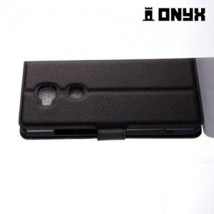 Чехол книжка для Huawei Honor 5X - Черный