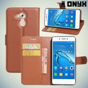 Чехол книжка для Huawei Honor 6C - Коричневый