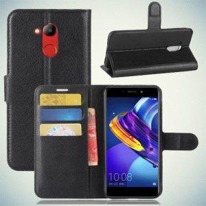 Чехол книжка для Huawei Honor 6C Pro - Черный