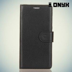 Чехол книжка для Huawei Honor 7X - Черный