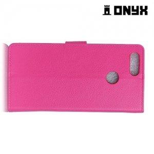 Чехол книжка для Huawei Honor 7X - Розовый