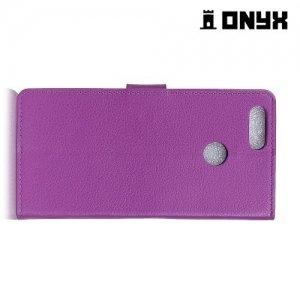 Чехол книжка для Huawei Honor 7X - Фиолетовый
