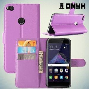 Чехол книжка для Huawei Honor 8 Lite - Фиолетовый