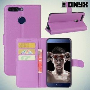 Чехол книжка для Huawei Honor 8 Pro - Фиолетовый