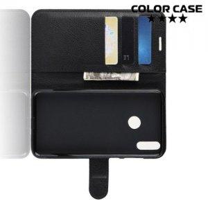 Чехол книжка для Huawei Honor 8C - Черный