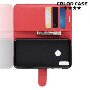 Чехол книжка для Huawei Honor 8C - Красный