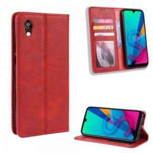 Чехол книжка для Huawei Honor 8S / Y5 2019 с магнитом и отделением для карты - Красный