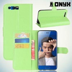 Чехол книжка для Huawei Honor 9 - Зеленый