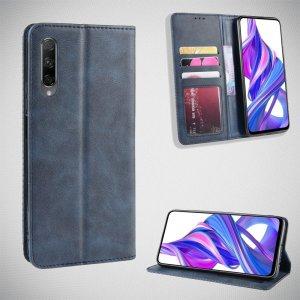 Чехол книжка для Huawei Honor 9X / 9X Premium с магнитом и отделением для карты - Синий