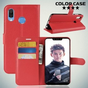 Чехол книжка для Huawei Honor Play - Красный