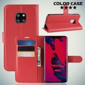 Чехол книжка для Huawei Mate 20 Pro - Красный