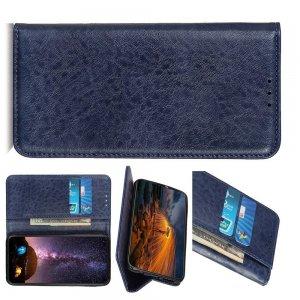 Чехол книжка для Huawei Mate 30 Pro с магнитом и отделением для карты - Синий