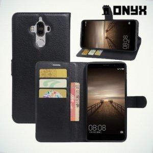 Чехол книжка с магнитной застежкой для Huawei Mate 9 - Черный