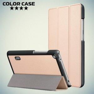 Чехол книжка для Huawei MediaPad T3 7 (Wi-Fi version BG2-W09) - Золотой