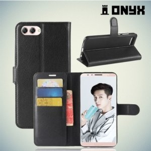 Чехол книжка для Huawei Nova 2s - Черный