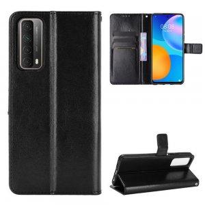 Чехол книжка для Huawei P Smart 2021 отделения для карт и подставка Черный