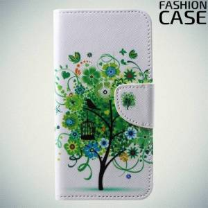 Чехол книжка для Huawei P20 Pro - с рисунком Дерево счастья