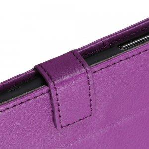 Чехол книжка для Huawei P40 lite E отделения для карт и подставка Фиолетовый