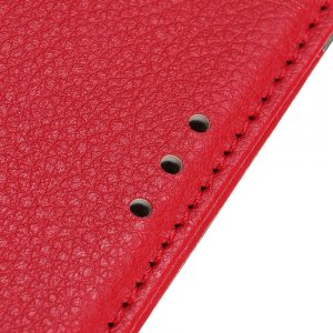 Чехол книжка для Huawei P40 lite E отделения для карт и подставка Красный