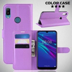 Чехол книжка для Huawei Y6 2019 - Фиолетовый