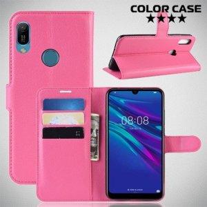 Чехол книжка для Huawei Y6 2019 / Y6s - Розовый