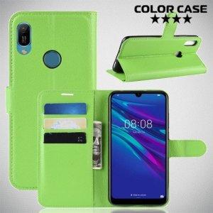 Чехол книжка для Huawei Y6 2019 / Y6s - Зеленый