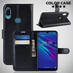 Чехол книжка для Huawei Y6 2019 / Honor 8A Pro - Черный