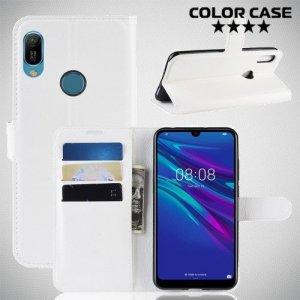 Чехол книжка для Huawei Y6 2019 / Y6s - Белый