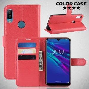 Чехол книжка для Huawei Y6 2019 / Honor 8A Pro - Красный