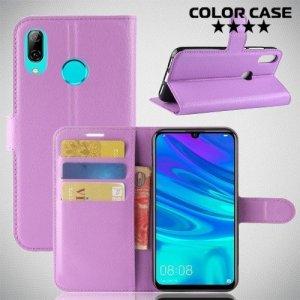Чехол книжка для Huawei Y7 2019 - Фиолетовый