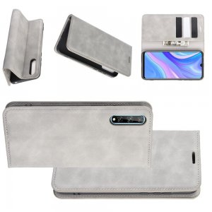 Чехол книжка для Huawei Y8p / Honor 30i с магнитом и отделением для карты - Серый