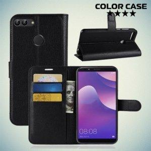 Чехол книжка для Huawei Y9 2018 - Черный