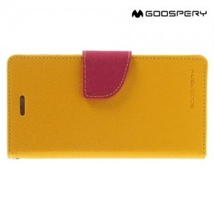 Чехол книжка для iPhone 6S / 6 Mercury Goospery - Желтый