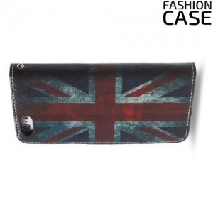 Чехол книжка для iPhone 6S / 6 - с рисунком Британский флаг
