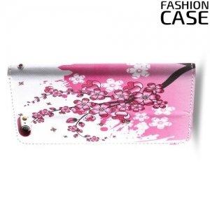 Чехол книжка для iPhone 6S / 6 - с рисунком Сакура