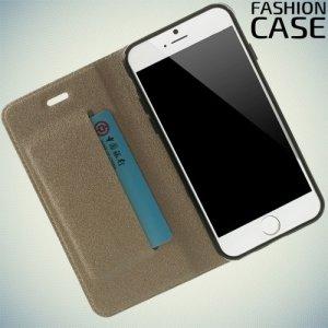 Чехол книжка для iPhone 6S / 6 с скрытой магнитной застежкой - Золотой