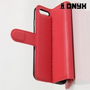 Чехол книжка для iPhone 8/7 - Красный