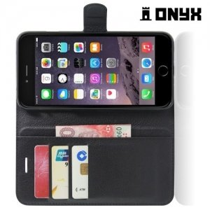 Чехол книжка для iPhone 8 Plus / 7 Plus - Черный