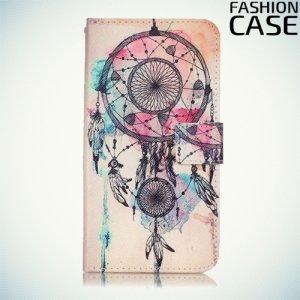 Чехол книжка для iPhone 8/7 - с рисунком Талисман Ловец снов