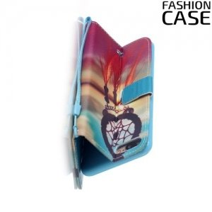 Чехол книжка для iPhone 8 Plus / 7 Plus - с рисунком Ловец снов