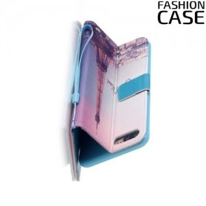 Чехол книжка для iPhone 8 Plus / 7 Plus - с рисунком Париж