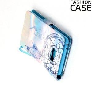 Чехол книжка для Samsung Galaxy Note 7 - с рисунком Светлый ловец снов