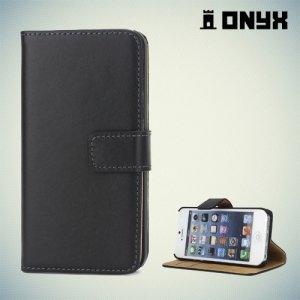 Чехол книжка для iPhone SE - Черный