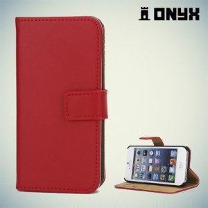 Чехол книжка для iPhone SE - Красный