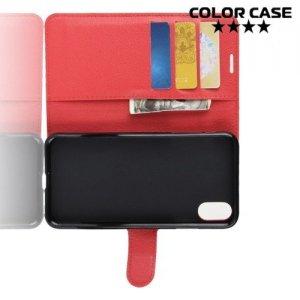 Чехол книжка для iPhone XR - Красный