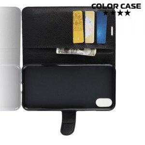 Чехол книжка для iPhone XS Max - Черный