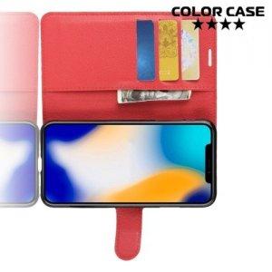 Чехол книжка для iPhone XS Max - Красный