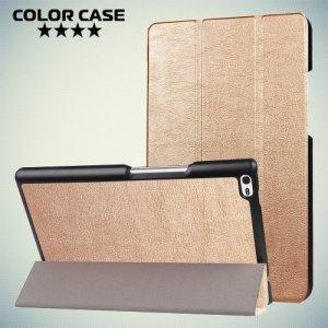 Чехол книжка для Lenovo Tab 4 8 TB-8504F - Золотой